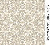 seamless floral and geometric... | Shutterstock .eps vector #486760717