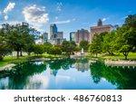 the skyline of uptown charlotte ... | Shutterstock . vector #486760813