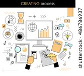 the concept of the creative... | Shutterstock .eps vector #486786937