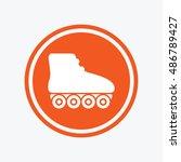 roller skates sign icon.... | Shutterstock .eps vector #486789427