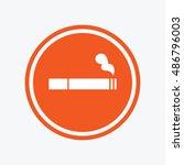 smoking sign icon. cigarette... | Shutterstock .eps vector #486796003