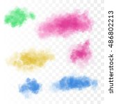 Set Of Vector Colorful Clouds...