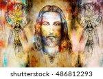 Jesus And Beautiful Angel Bein...