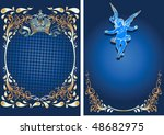 blue and gold romance ornate...