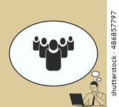 group of people icon  friends... | Shutterstock .eps vector #486857797