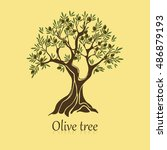 natural olive tree with... | Shutterstock .eps vector #486879193