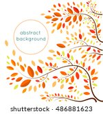 the pattern of autumn leaves  ... | Shutterstock .eps vector #486881623