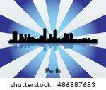 detailed vector perth... | Shutterstock .eps vector #486887683
