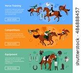 horse rising sport horizontal