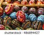 easter painted eggs | Shutterstock . vector #486894427