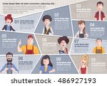 vector brochure backgrounds... | Shutterstock .eps vector #486927193