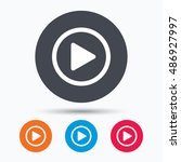 play icon. audio or video... | Shutterstock .eps vector #486927997