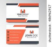 modern business card design  | Shutterstock .eps vector #486962917