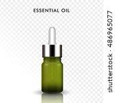 essential oil glass bottle  3d...   Shutterstock . vector #486965077