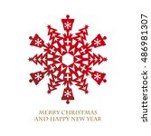 design of christmas elements... | Shutterstock .eps vector #486981307