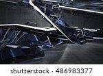 empty dark abstract concrete...   Shutterstock . vector #486983377