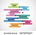colorful abstract background... | Shutterstock .eps vector #487009687