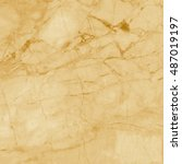 yellow marble texture... | Shutterstock . vector #487019197