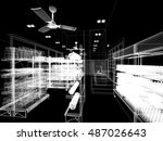 sketch design of supermarket ... | Shutterstock . vector #487026643