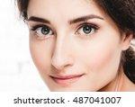 Beautiful Eyes Woman Portrait...