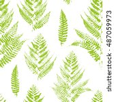 seamless pattern with paint... | Shutterstock .eps vector #487059973