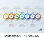 timeline business infographic... | Shutterstock .eps vector #487060537