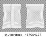 transparent packaging for... | Shutterstock .eps vector #487064137