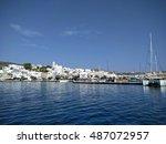 Small photo of View of Adamas port - Milos, Greece