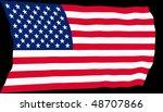 vector illustration of usa flag ... | Shutterstock .eps vector #48707866