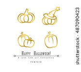 4 Halloween Vector Outline Ico...