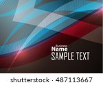 color abstract template for... | Shutterstock .eps vector #487113667