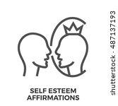 self esteem affirmations thin...   Shutterstock .eps vector #487137193