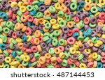 background of round colorful... | Shutterstock . vector #487144453
