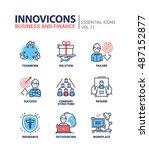 business and finance   modern... | Shutterstock . vector #487152877