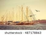Marine Landscape With Yachts...