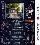 vector photo decor stickers.... | Shutterstock .eps vector #487201783
