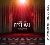vector festive design with... | Shutterstock .eps vector #487204687