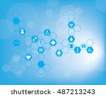 abstract medical background. | Shutterstock . vector #487213243