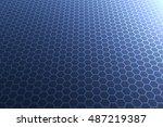 geometric honeycomb render