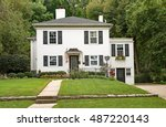 White Stucco House With...