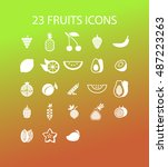 fruit icons | Shutterstock .eps vector #487223263