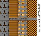 vector seamless pattern for... | Shutterstock .eps vector #487261687