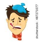 cartoon person young man got... | Shutterstock .eps vector #487271077