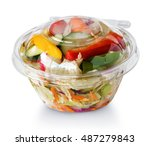fresh vegetable salad in a... | Shutterstock . vector #487279843
