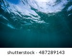 underwater view of the sea...   Shutterstock . vector #487289143