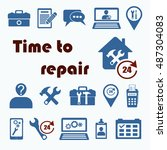 home repair icon set with 24...   Shutterstock .eps vector #487304083