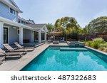 custom home  menlo park  back... | Shutterstock . vector #487322683