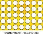 watercolor yellow circles... | Shutterstock . vector #487349203