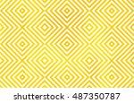 watercolor geometrical pattern... | Shutterstock . vector #487350787