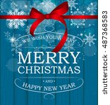 abstract beauty christmas and... | Shutterstock . vector #487368583